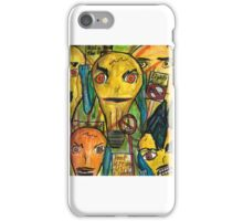 Punk lights bulbs protesting Edison  iPhone Case/Skin