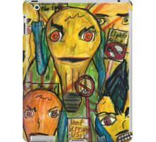 Punk lights bulbs protesting Edison  iPad Case/Skin