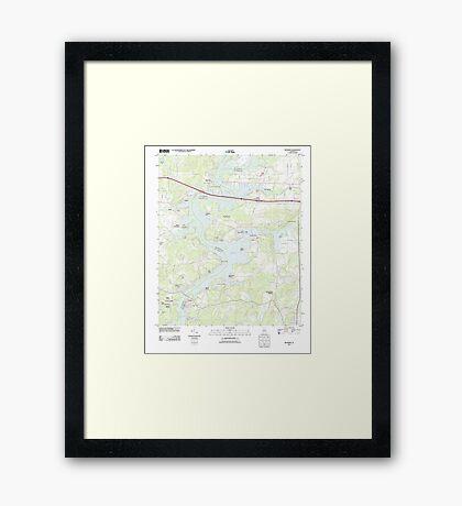 USGS TOPO Map Alabama AL Riverside 20110928 TM Framed Print