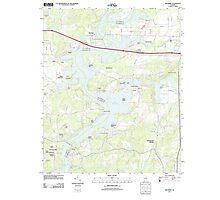 USGS TOPO Map Alabama AL Riverside 20110928 TM Photographic Print
