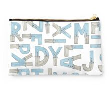blue alphabet Studio Pouch