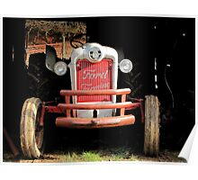 Red Ford Farming Tractor 'Tween Jobs Poster