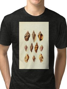 Thesaurus conchyliorum Monographs of genera of shells George Brettingham Sowerby 1887 V1-V5 051 Tri-blend T-Shirt