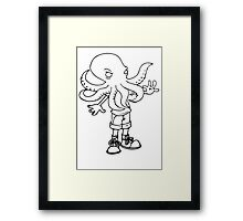 Kid Cthulhu! Framed Print