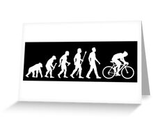 Evolution Of Man Cycling Greeting Card