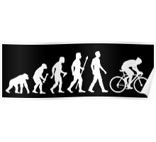 Evolution Of Man Cycling Poster