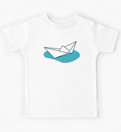 Origami Boat Kids Tee