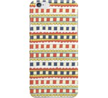 red, yellow and blue decorative stripes iPhone Case/Skin