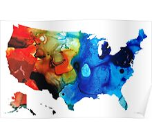 United States of America Map 4 - Colorful USA Poster