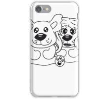 few couple friends love love woman man team Teddy comic cartoon sweet cute iPhone Case/Skin