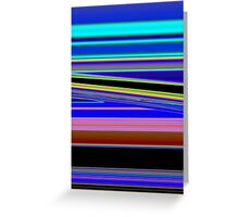 Slanted Stripes Greeting Card