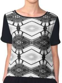 Wood and Lights Black and White Chiffon Top