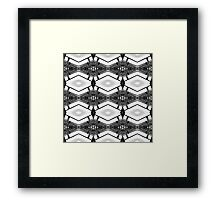 Wood and Lights Black and White Framed Print