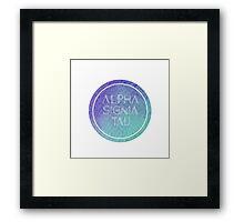 Alpha Sigma Tau Framed Print