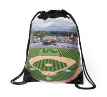 Los Angeles Home of Baseball Fever Drawstring Bag