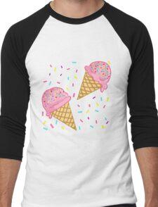IceCream & Sprinkles Men's Baseball ¾ T-Shirt