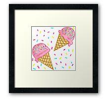 IceCream & Sprinkles Framed Print