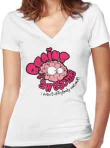 Brain Are Awesome : I Wish Everybody Had One Women's Fitted V-Neck T-Shirt