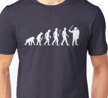 Evolution Of Man Riot Police Unisex T-Shirt