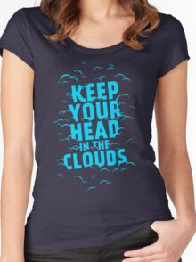 Keep Your Head In The Clouds Women's Fitted Scoop T-Shirt