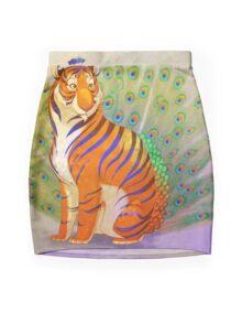 Peacock Tiger Mini Skirt