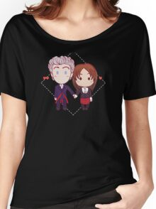 12 and Clara - Chibi Hearts Women's Relaxed Fit T-Shirt