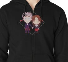 12 and Clara - Chibi Hearts Zipped Hoodie