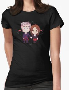12 and Clara - Chibi Hearts Womens Fitted T-Shirt