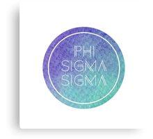 Phi Sigma Sigma Canvas Print