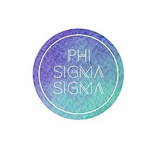 Phi Sigma Sigma Photographic Print