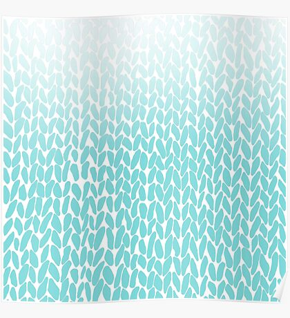 Hand Knit Ombre Teal Poster
