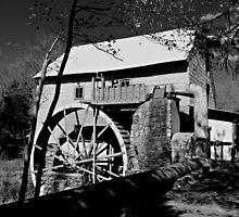 Old Mill of Guilford in B&W by virginian
