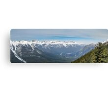 Bow Valley from Suphur Mountain Canvas Print