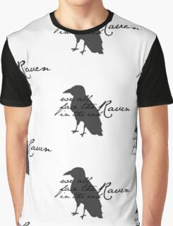 We All Face The Raven In The End Graphic T-Shirt
