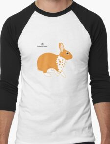 Blanket Brocken Rabbit, Orange Men's Baseball ¾ T-Shirt