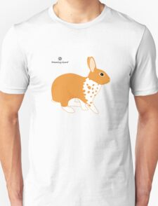 Blanket Brocken Rabbit, Orange Unisex T-Shirt