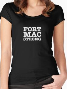 Fort Mac Strong Women's Fitted Scoop T-Shirt
