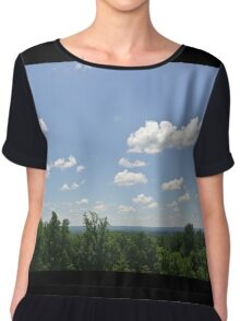 Clouds and Trees Chiffon Top
