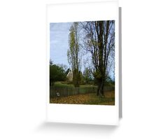 Autumn  Hill End nsw Greeting Card