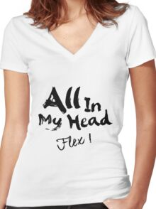 Fifth Harmony - AIMH ( Black Text ) Women's Fitted V-Neck T-Shirt