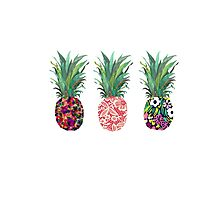 Pineapples rainbow Photographic Print