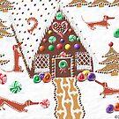 Gingerbread Dachshunds by DebiCady