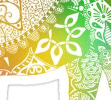 Rainbow Tribal Elephant Sticker