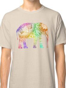Rainbow Tribal Elephant Classic T-Shirt