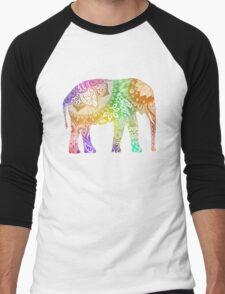 Rainbow Tribal Elephant Men's Baseball ¾ T-Shirt