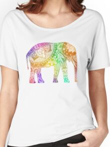 Rainbow Tribal Elephant Women's Relaxed Fit T-Shirt