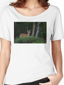 Fawn in forest Women's Relaxed Fit T-Shirt