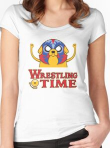 Wrestling Time Women's Fitted Scoop T-Shirt