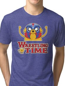 Wrestling Time Tri-blend T-Shirt