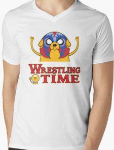 Wrestling Time Mens V-Neck T-Shirt